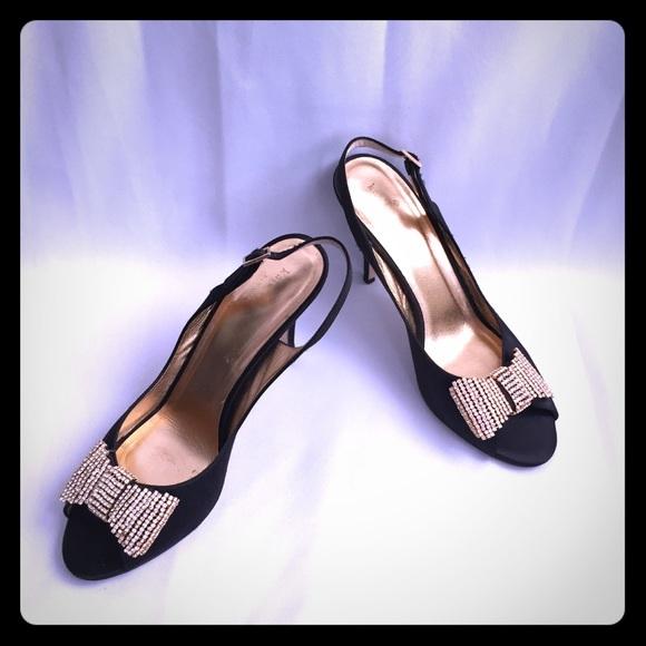 40e145d958c9 kate spade Shoes - Kate Spade Miva Satin Slingback Rhinestone Bow
